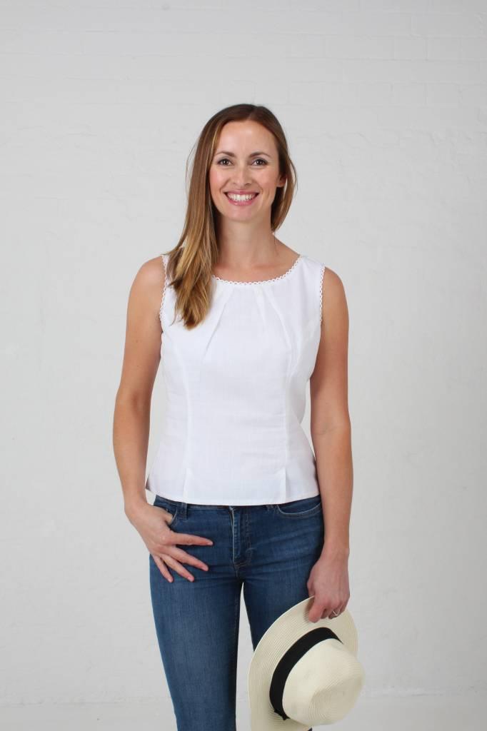 JABA JABA Leila Top in White