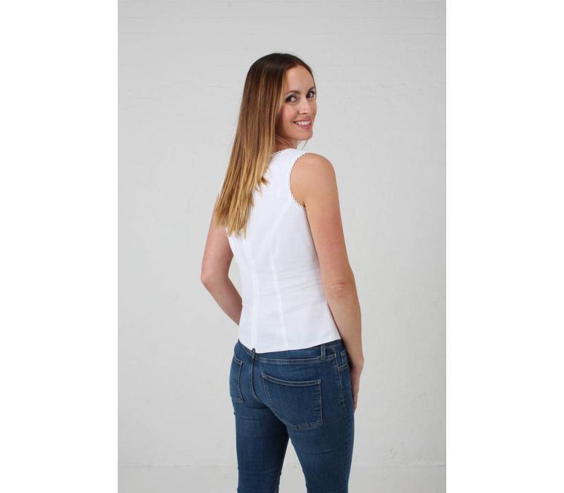 JABA Leila Top in White