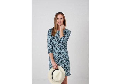 JABA JABA Keira Dress in Jersey Blue Floral