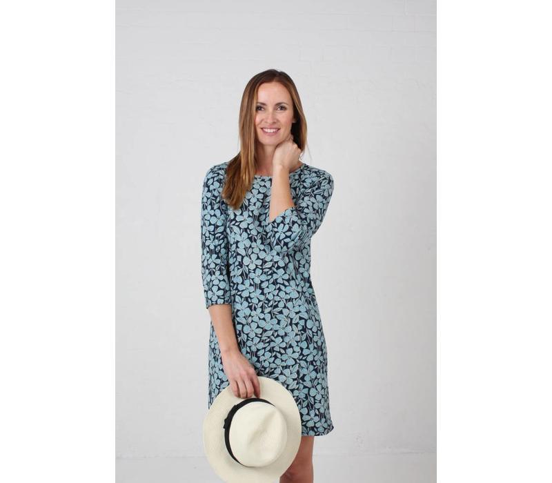 JABA Keira Dress in Jersey Blue Floral