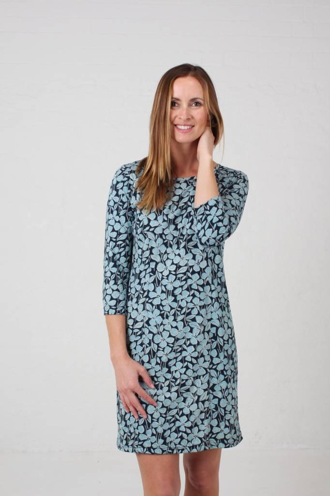 JABA JABA Keira Dress in Jersey Blue Floral