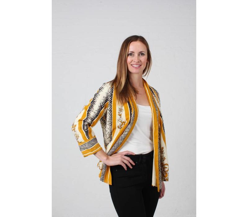 JABA Kimono Jacket in Scarf Print