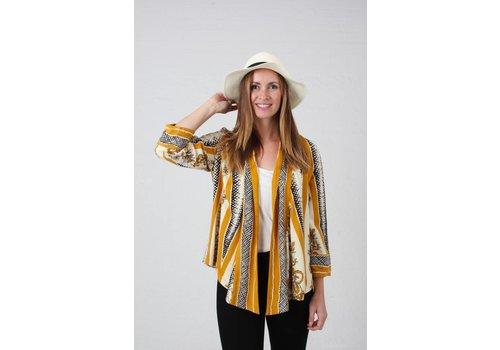 JABA JABA Kimono Jacket in Scarf Print