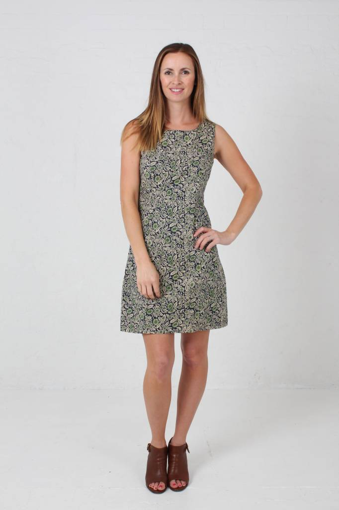JABA JABA Nicole Dress - Wild Flower Green -