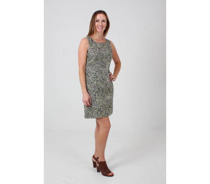 JABA Nicole Dress - Wild Flower Green -