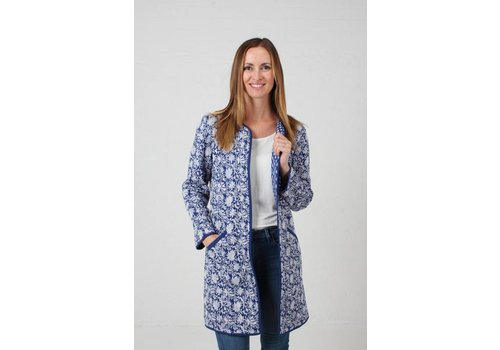 JABA JABA Reversible Coat in Coastal Blue
