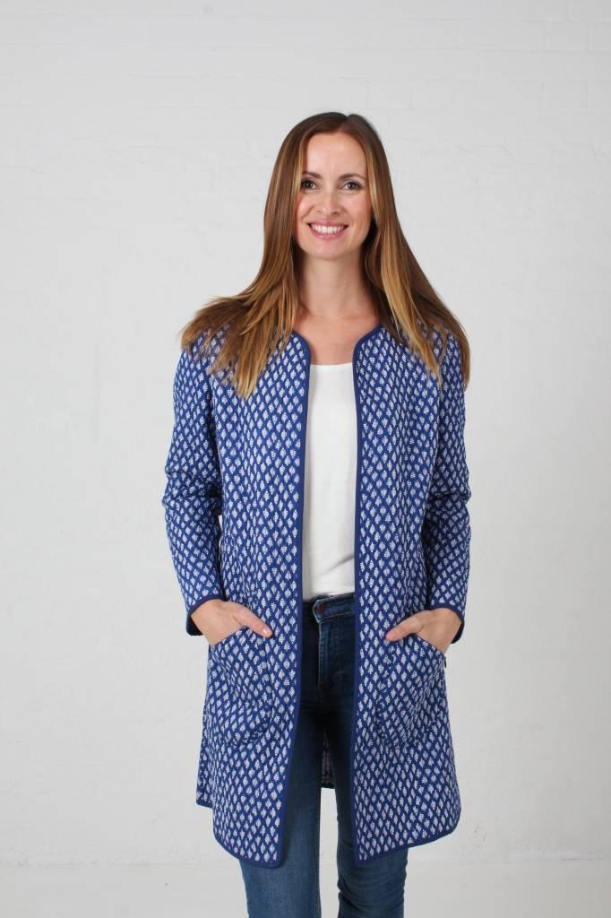 JABA JABA Reversible Coat in Coastal Blue