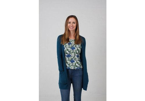 JABA Jaba Cotton/Cashmere Cardigan - Lake
