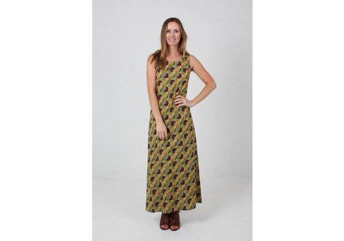 JABA JABA Naomi Maxi Dress in Vintage Wave Green