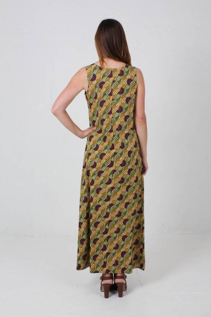 JABA JABA Naomi Maxi Dress in  Vintage Wave Green