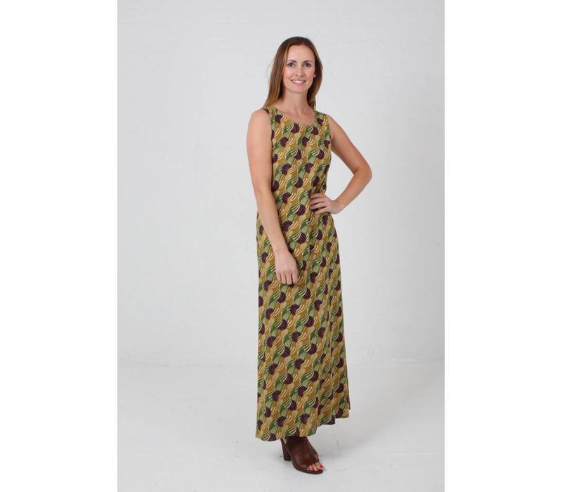 JABA Naomi Maxi Dress in  Vintage Wave Green