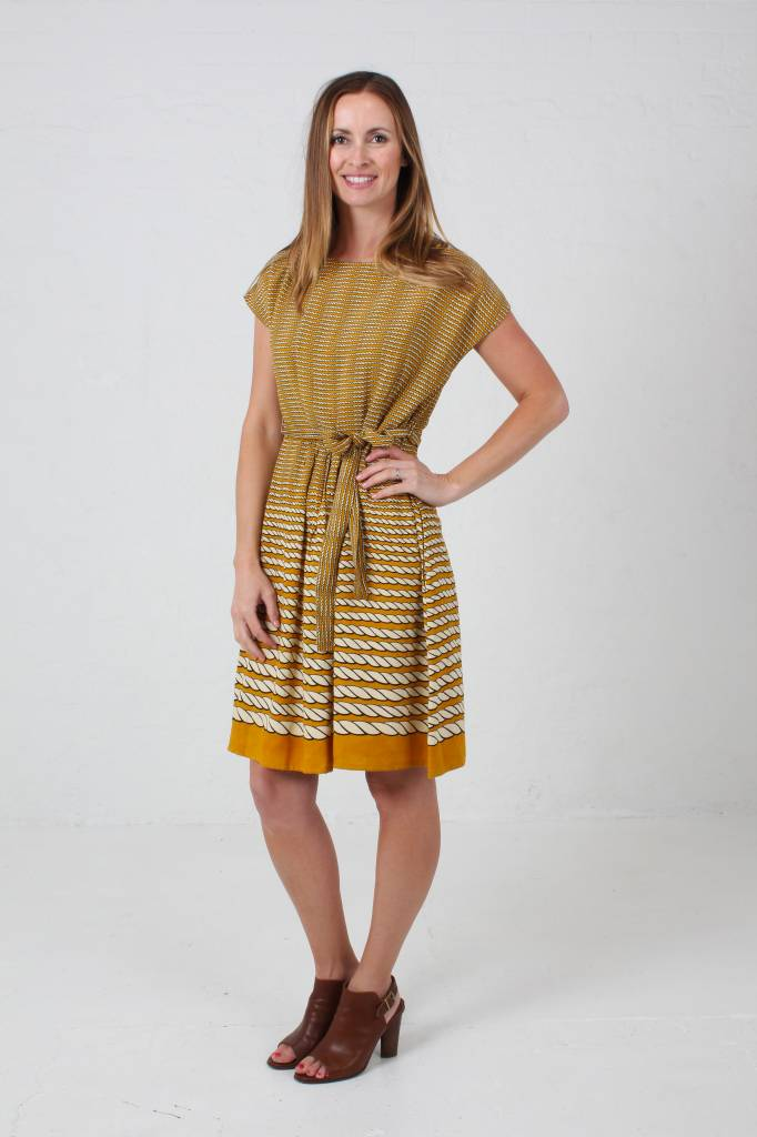 JABA JABA Rope Dress in Mustard