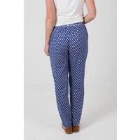 JABA Ellie Trousers in Leaf Block Blue