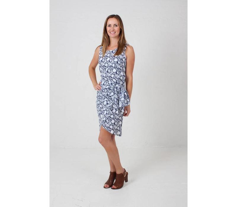 JABA Sarong Dress in Blue