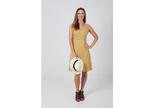 JABA JABA Sun Dress in  Cog Mustard