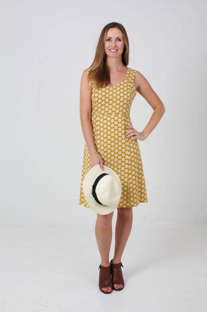 JABA JABA Sun Dress in Cog Mustard