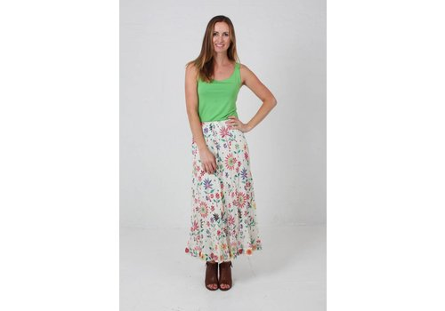 JABA JABA Sara Maxi Skirt in Embroidered Print