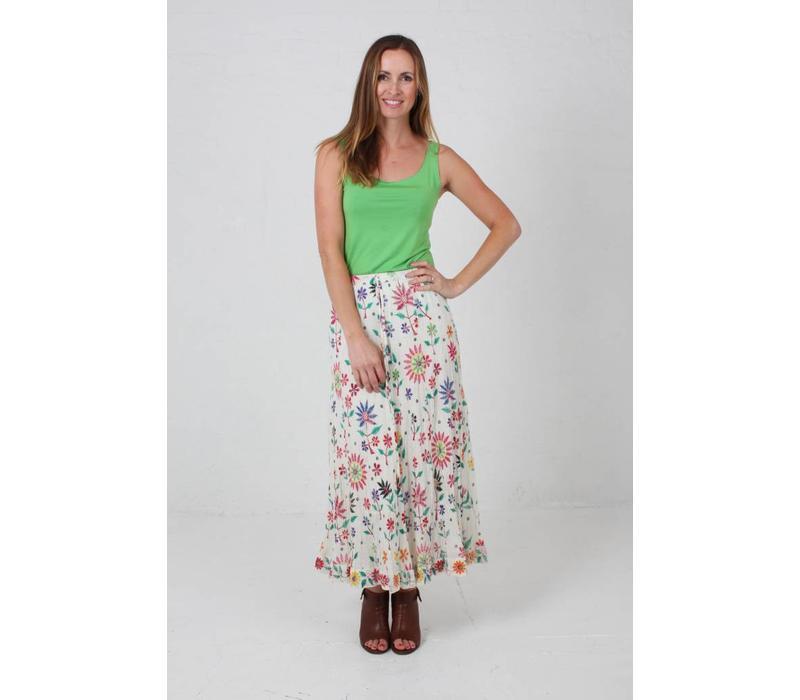 JABA Sara Maxi Skirt in Embroidered Print