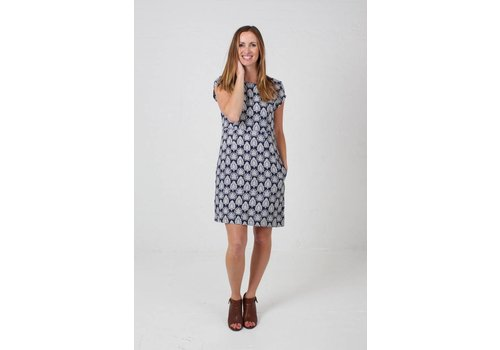 JABA JABA Camile Dress in Navy Bindi