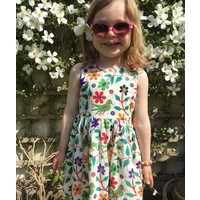 Jaba Kids Amelie Dress in Parrot Print