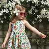 JABA Jaba Kids Amelie Dress in Parrot Print