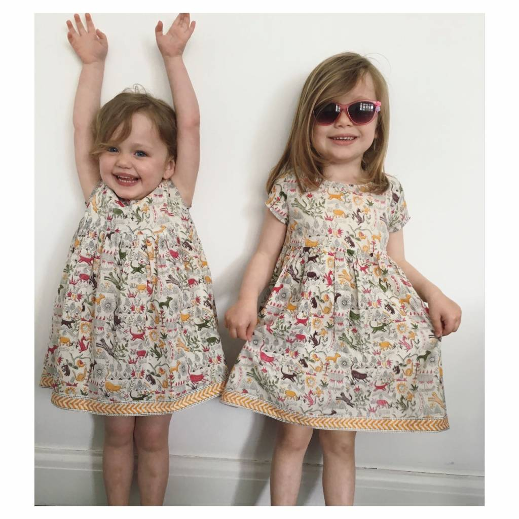 JABA Jaba Kids Thea Dress in Jungle Print