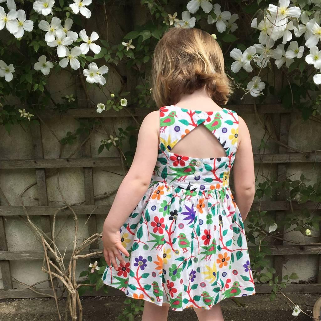JABA Jaba Kids Amelie Dress in Parrot Print