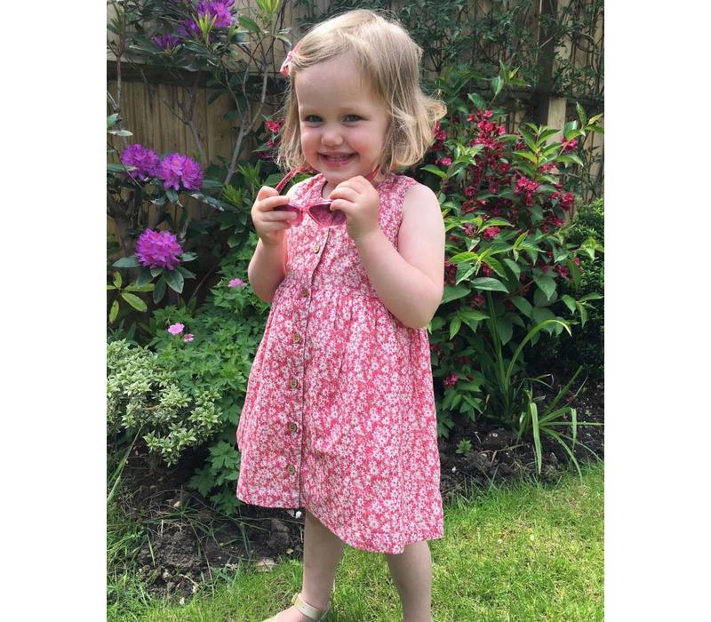 Jaba Kids Isabella Dress in Ditsy Pink