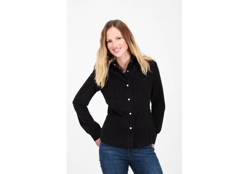 JABA Jaba Leonie Shirt in Black PinCord