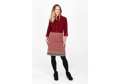 JABA Jaba Leonie Shirt in Red PinCord