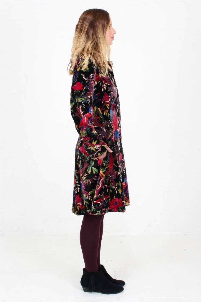 JABA JABA Velvet Coat in Birds of Paradise