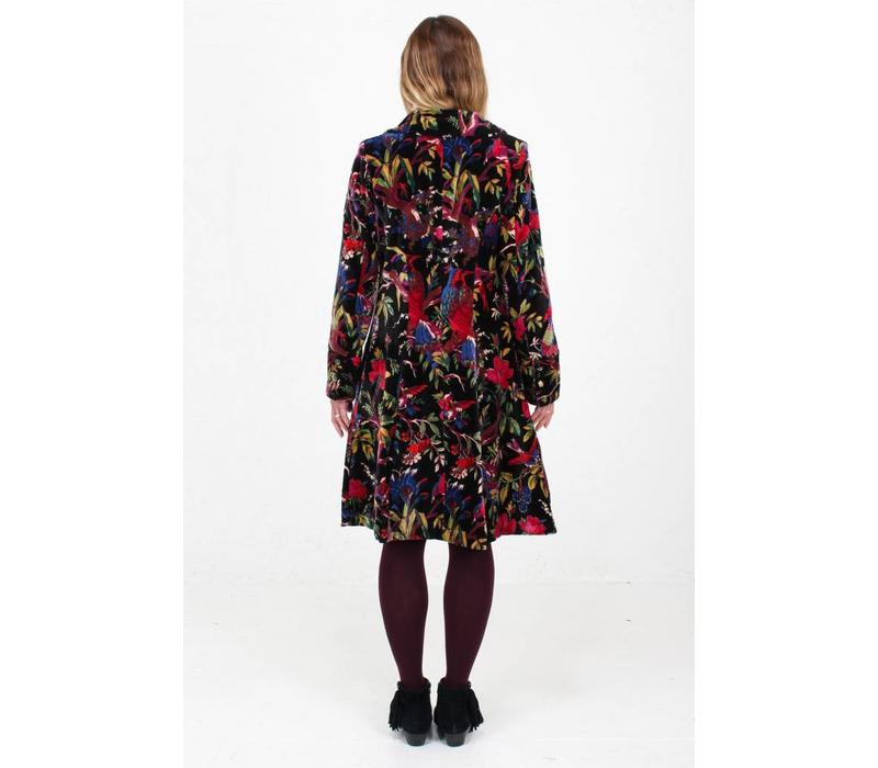 JABA Velvet Coat in Birds of Paradise