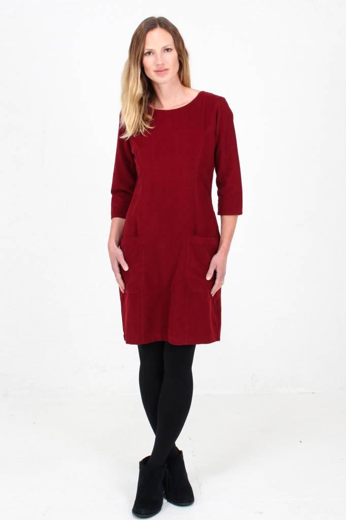 JABA Jaba  Sadie Dress in Red PinCord
