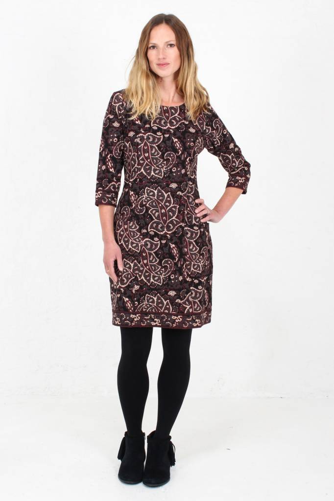 JABA JABA Sadie Dress in Black Paisley