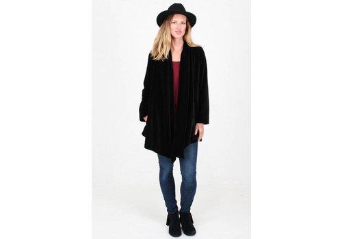 JABA Jaba Black Velvet Loose Jacket