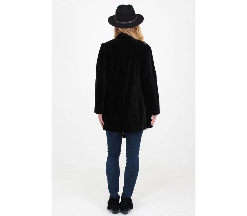 Jaba Black Velvet Loose Jacket