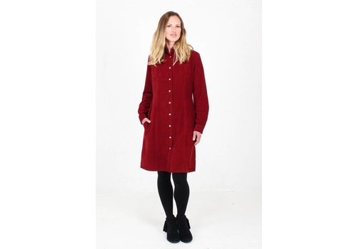JABA Jaba Leonie Shirt Dress in PinCord Red
