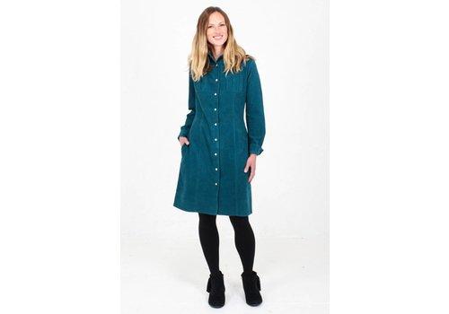 JABA Jaba Leonie Shirt Dress in PinCord Teal