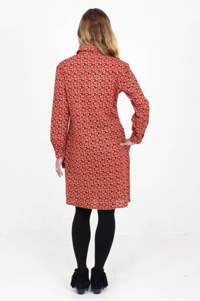 JABA Jaba Leonie Shirt Dress in Winter Red
