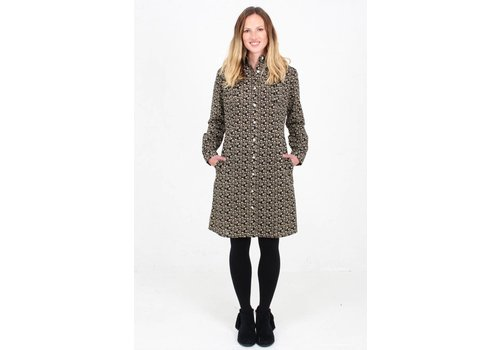 JABA Jaba Leonie Shirt Dress in Winter Black