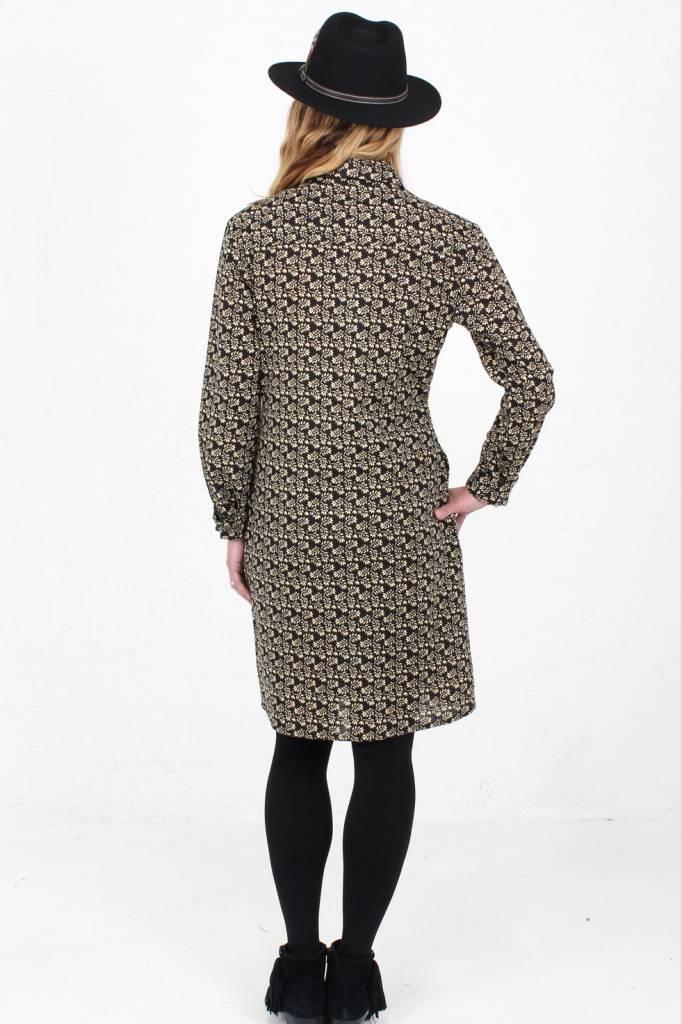JABA Jaba Leonie Shirt Dress in Winter Black