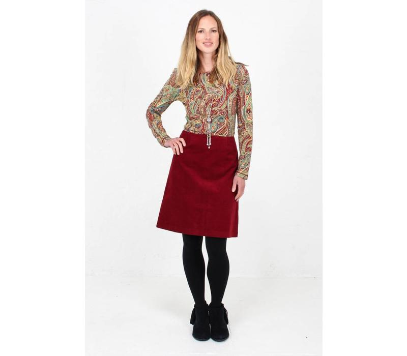Jaba Lora Skirt in Red Cord