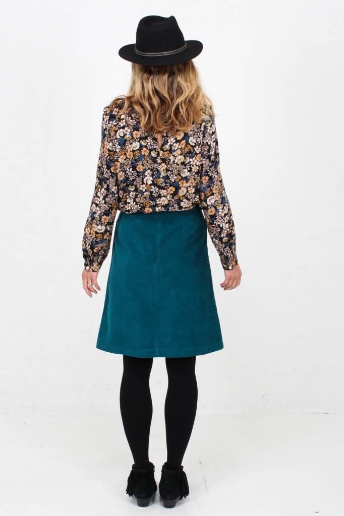 JABA Jaba Lora Skirt in Teal Cord