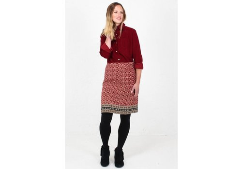 JABA Jaba Lora Skirt in Winter Red