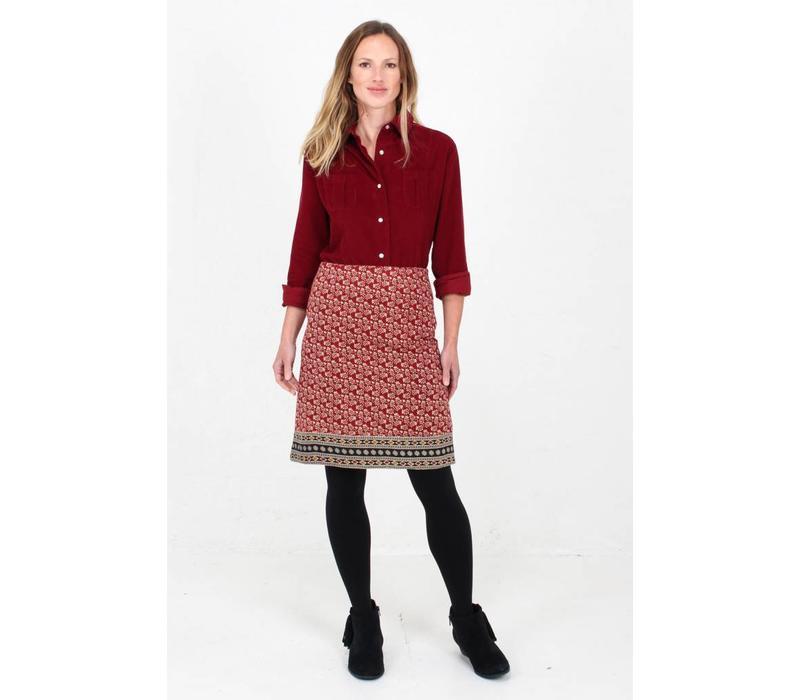 Jaba Lora Skirt in Winter Red
