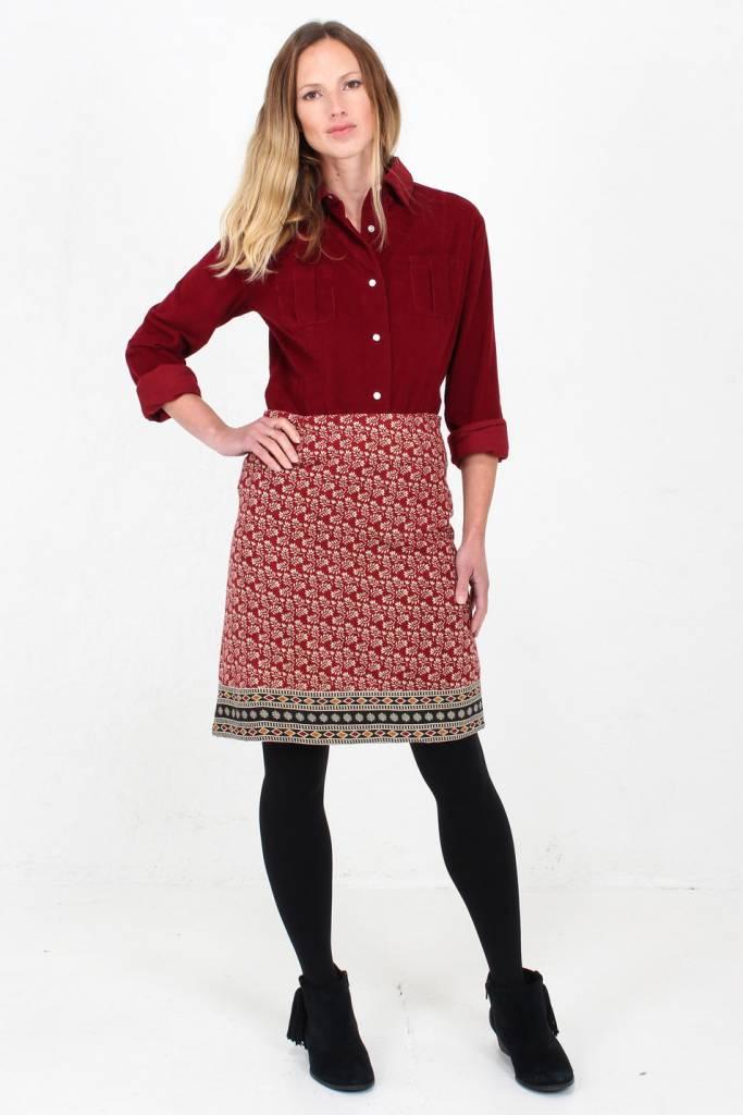 JABA Jaba Lora Skirt in Winter Red