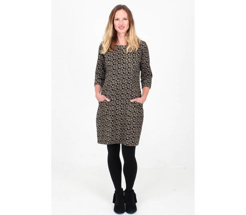JABA Sadie Dress in Winter Black