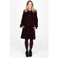 JABA Embroidered Velvet Coat