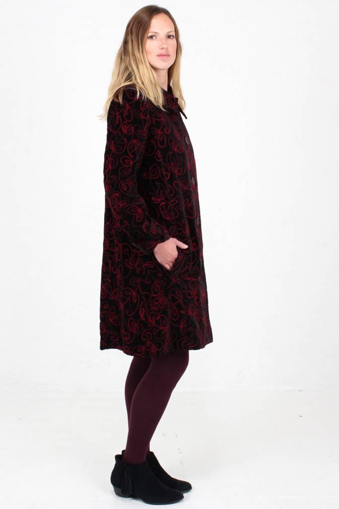 JABA JABA Embroidered Velvet Coat