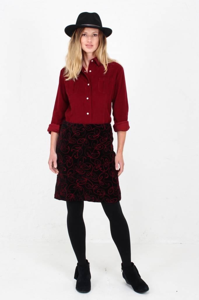 JABA Jaba Velvet Embroidered Skirt
